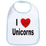 I Love Unicorns Bib