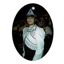 Drum Major Amanda Holguin Xmas Oval Ornament