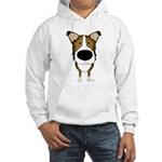 Big Nose/Butt Smooth Collie Hooded Sweatshirt
