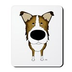Big Nose Smooth Collie Mousepad