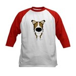 Big Nose/Butt Smooth Collie Kids Baseball Jersey