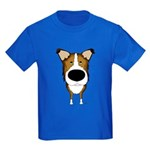 Big Nose Smooth Collie Kids Dark T-Shirt