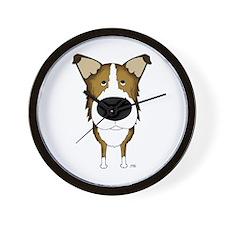 Big Nose Smooth Collie Wall Clock