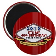 40th Vegas Birthday Magnet