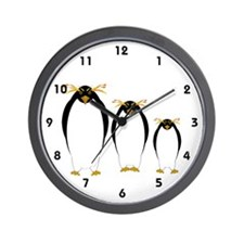 Penguin Three Wall Clock
