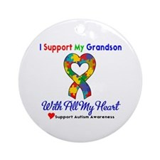 Autism ISupportMy Grandson Ornament (Round)