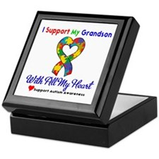 Autism ISupportMy Grandson Keepsake Box