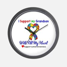 Autism ISupportMy Grandson Wall Clock