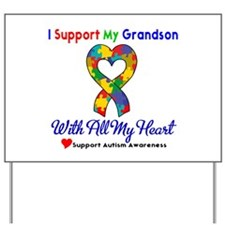 Autism ISupportMy Grandson Yard Sign
