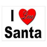 I Love Santa Small Poster