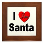 I Love Santa Framed Tile