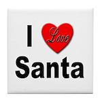 I Love Santa Tile Coaster