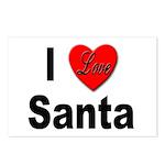 I Love Santa Postcards (Package of 8)