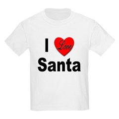 I Love Santa (Front) Kids T-Shirt