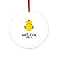 Portuguese Chick Ornament (Round)