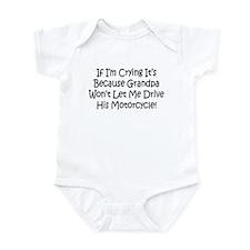 Drive My Grandpas Motorcycle Infant Bodysuit