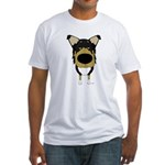 Big Nose/Butt Smooth Collie Fitted T-Shirt