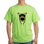 Big Nose/Butt Smooth Collie Green T-Shirt