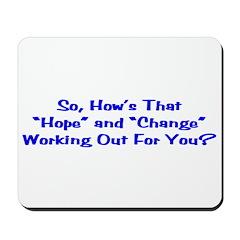 Hope and Change Mousepad