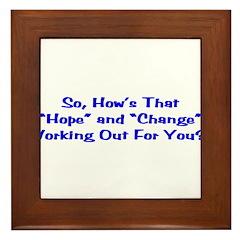 Hope and Change Framed Tile