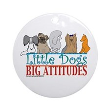 Big Attitudes Ornament (Round)