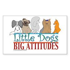 Big Attitudes Rectangle Decal