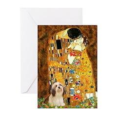 Kiss / Lhasa Apso #4 Greeting Cards (Pk of 10)