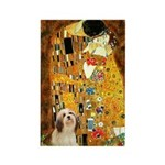 Kiss / Lhasa Apso #4 Rectangle Magnet