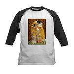 Kiss / Lhasa Apso #4 Kids Baseball Jersey