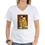Kiss / Lhasa Apso #4 Women's V-Neck T-Shirt