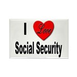 I Love Social Security Rectangle Magnet (10 pack)