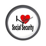I Love Social Security Wall Clock