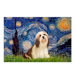 Starry / Lhasa Apso #4 Postcards (Package of 8)