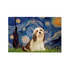Starry / Lhasa Apso #4 Rectangle Magnet