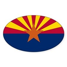 Arizona State Flag Oval Decal