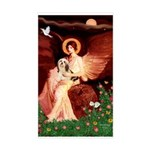 Angel / Lhasa Apso #4 Sticker (Rectangle)