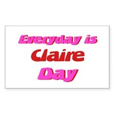 Everyday is Claire Day Rectangle Decal