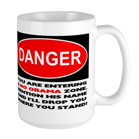 No Obama Zone Large Mug