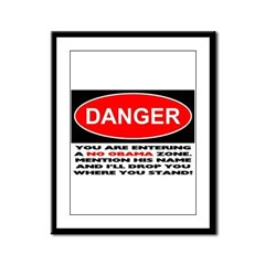 No Obama Zone Framed Panel Print