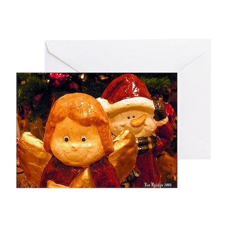 Angel vs Santa Greeting Cards (Pk of 10)