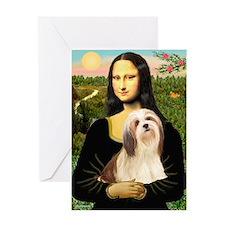 Mona / Lhasa Apso #4 Greeting Card