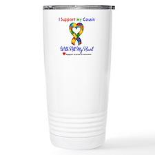 Autism ISupportMy Cousin Travel Mug
