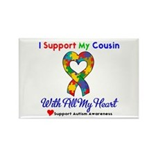 Autism ISupportMy Cousin Rectangle Magnet (10 pack