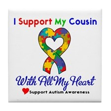 Autism ISupportMy Cousin Tile Coaster
