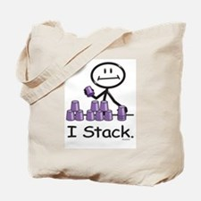 Sport Stacking Purple Cups Tote Bag