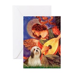 Mandolin / Lhasa Apso #4 Greeting Card
