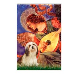 Mandolin / Lhasa Apso #4 Postcards (Package of 8)