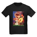 Mandolin / Lhasa Apso #4 Kids Dark T-Shirt