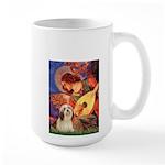Mandolin / Lhasa Apso #4 Large Mug