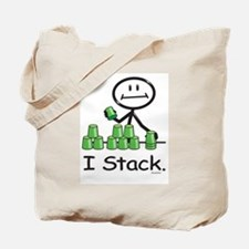 Sport Stacking Green Cups Tote Bag
